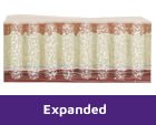 Cross-section revealing example of expanded EXPAREL administration