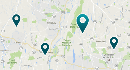 Map revealing places a patient can find a surgeon who uses EXPAREL